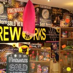 London Fireworks Shop Product Display