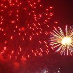 Red Firework Bangs